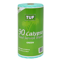 TUF Green Food Service Wipes on a Roll (30cm x 50cm 90 Sheets) - Roll