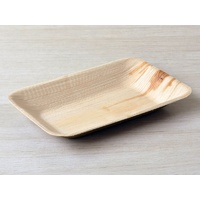 Bamboo Plate Rectangle Large 15x23cm - Sleeve of 25
