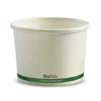 BioPak 8oz Paper Takeaway Hot Bowl - Sleeve of 50