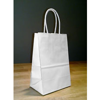 Paper Carry Bag White Small with paper twist handle 350x260+110 - Sleeve of 50