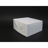 Cake Carton White 203x203x102mm - Sleeve of 100