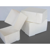 Cake Carton White 330x330x100mm - Sleeve of 50