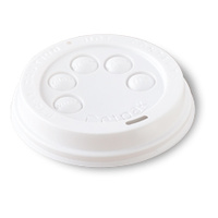 Ripple Wrap Espresso Cup Lid 4oz White - Sleeve of 50
