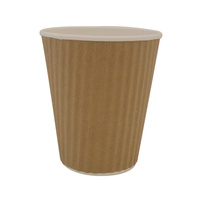 Ripple Wrap Cup 8oz Brown - Sleeve of 40