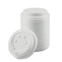 Ripple Wrap Hot Cup Lid 12/16oz White - Sleeve of 100