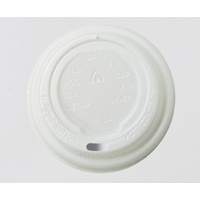 Triple Wall Coffee Cup Lid fits 8/12/16oz - WHITE - Sleeve of 25