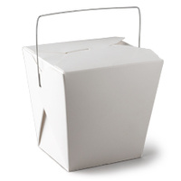 Food Pail with Handle White 16oz 76x55x85mm - Sleeve of 50