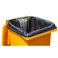 240ltr HDPE Black Bin Liner 1450x1150mm - Carton of 200