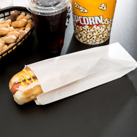 Long White Hot Dog Bag - Carton of 1000