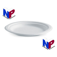 Biopak Plates 7inch/180mm Biodegradable, Eco Friendly, Disposable, Compostable!