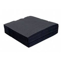 Biopak Napkin 2 Ply Cocktail Black 240x240mm - Sleeve of 250
