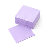Napkin 2 Ply Luncheon Lavender Alpen 320x320mm - Sleeve of 100