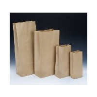 Paper Bag Satchel No 1 Brown 195x95x45mm - Carton of 500