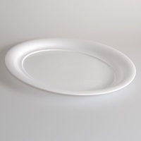 "Platter Oval White 20"" - Each"