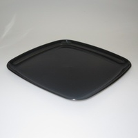 "Platter Square Black 16"" - Each"