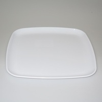 "16"" Square Platter, White - Each"