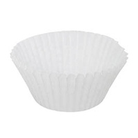 #408 Patty Pan White 44x30mm - Sleeve of 500