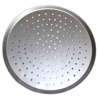 Pizza Tray Aluminium Perforated 15in - Each