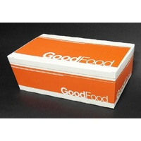"Extra Small Snack Box Printed ""Good Food"" - Sleeve of 50"