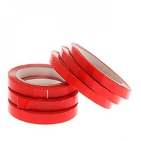 Bag Sealing Tape 12mm x 66m Red - Each