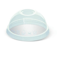 12/14oz PET Clear Cold Cup Dome Lid - Sleeve of 50