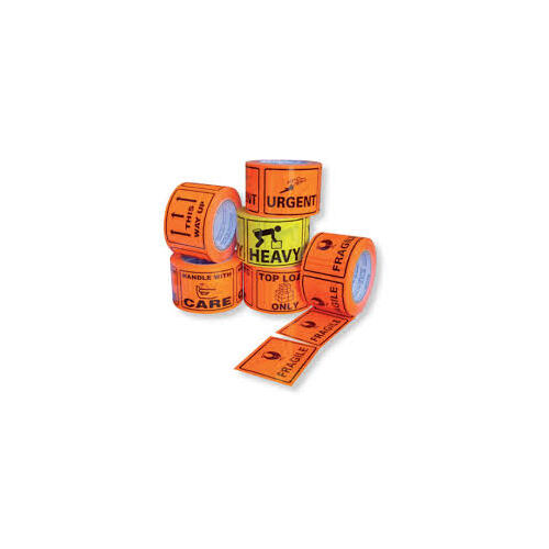 TOP LOAD Flouro Orange stickers on a roll - Each