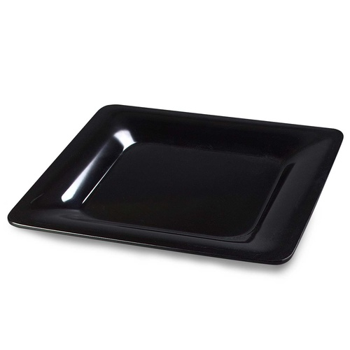 "Platter Square Black 12"" - Each"