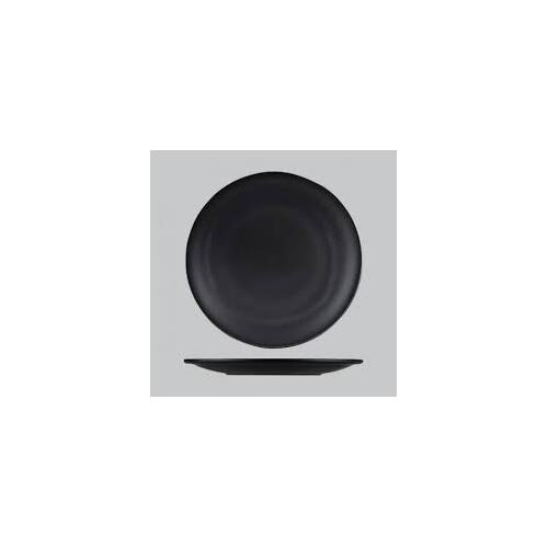 Natural Satin Round Coupe Plate Satin Black 275mm - Each