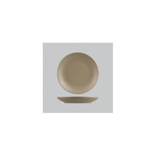 Natural Satin Round Coupe Plate Brown 270mm - Each