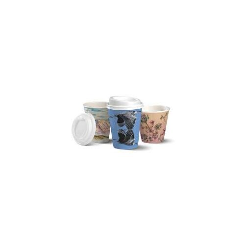 BioPak 16oz Double Wall Hot Cup - Art Series - Sleeve of 40
