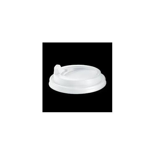 BioPak 12/16/20oz PS Sipper Lid - White - Sleeve of 50