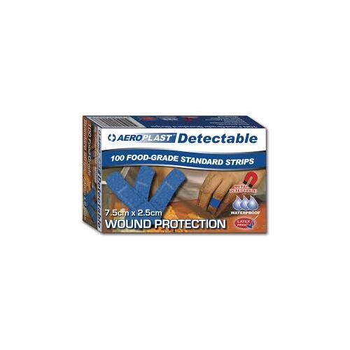 Blue Detectable Plasters, 75x25mm - Packet of 100