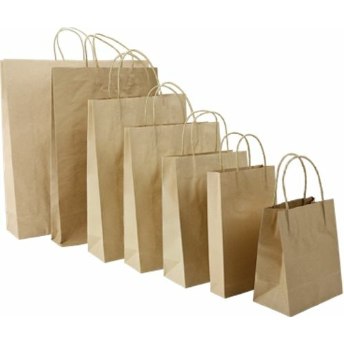 Paper Carry Bag Brown Large 500x450+120mm - Sleeve of 50