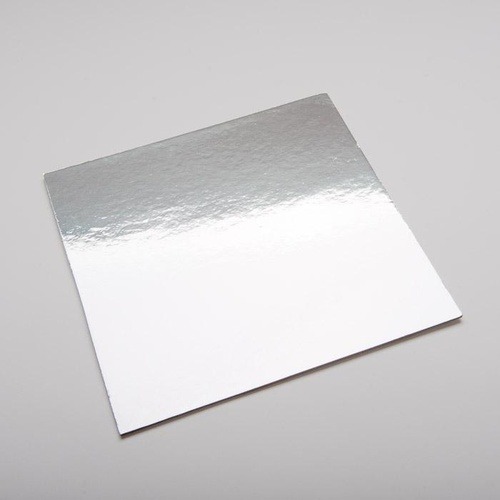 "Cake Square Silver 16"" - Cut to 400mm x 120mm - Each"
