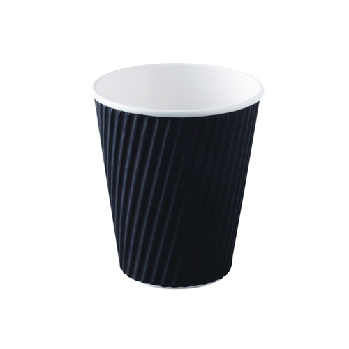 Ripple Wrap Cup 16oz Black - Sleeve of 25