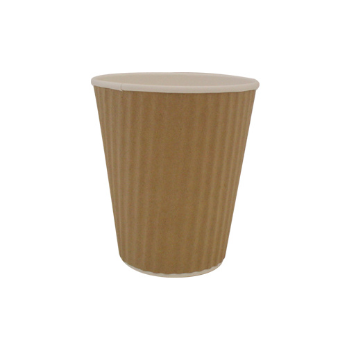Ripple Wrap Cup 16oz Brown - Sleeve of 25