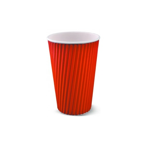 Ripple Wrap Cup 16oz Red - Sleeve of 25