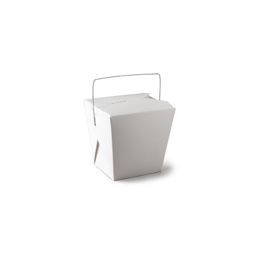 Food Pail with Handle White 8oz 62x46x66mm - Sleeve of 50