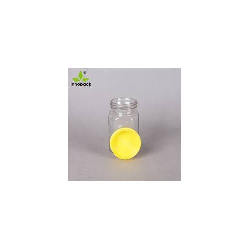 Honey Pot Clear 1KG with Yellow Lid - EACH