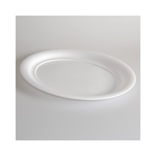 "Platter Oval White 16"" - Each"