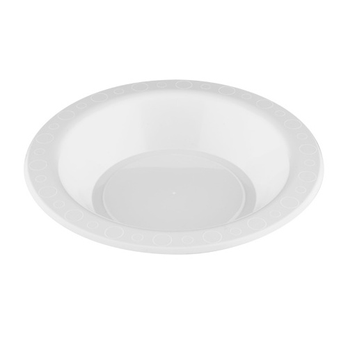 Genfac Plastic Bowl White - Sleeve of 50