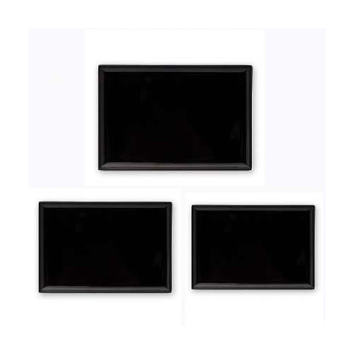 Platter Rect 250x170mm Black - Each