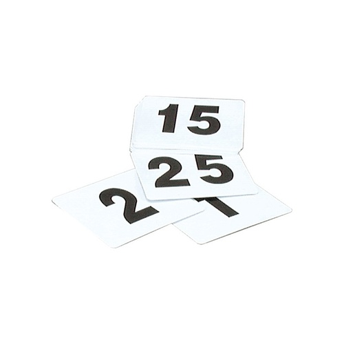 Table Numbers White 1-100 - Packet
