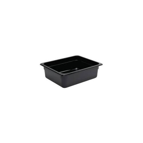 Vogue Black Polycarbonate 1/2 Gastronorm Container 100mm